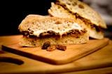 Cheesy Seitan & MushroomSandwich
