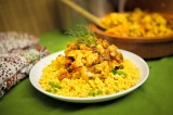 Cauliflower Chickpea Tagine with Lemon Parsley Couscous